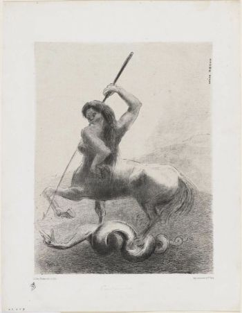There were struggles and vain victories; Plate No6 from the set The Origins