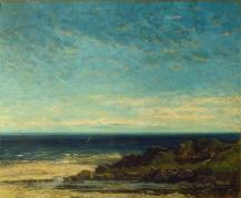 Jean Gustave Courbet; Sea; 1867; oil on canvas; 103 x 126 cm