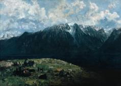 Jean Gustave Courbet; Dent du Midi; 1877; oil on canvas