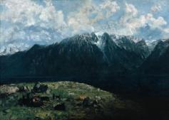 Jean Gustave Courbet; Dent du Midi; 1877; oil on canvas