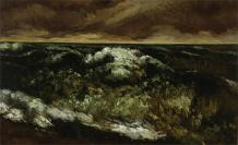 Jean Gustave Courbet; The Wave; c.1869-1870; oil on canvas; 55.88 x 91.44 cm; Dallas Museum of Art