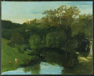 Jean Gustave Courbet; Valley; c.1865; oil on canvas; 65.4 x 81.3 cm