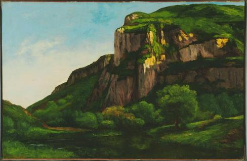 Jean Gustave Courbet; Rocks at Mouthier; c.1855; oil on canvas; 75.565 x 116.84 cm; The Phillips Collection