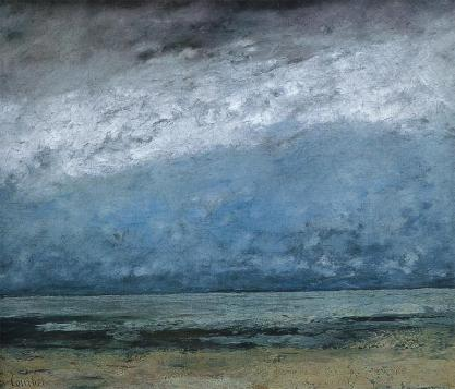 Jean Gustave Courbet; Seacoast; 1865; oil on canvas; 53.5 x 64 cm