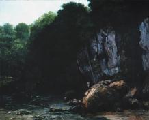 Jean Gustave Courbet; Rivulet of Puits Noir; oil; 80 x 100 cm