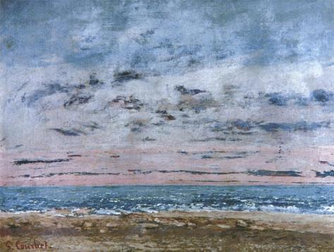 Jean Gustave Courbet; Seascape; 1866; 43.2 x 59.1 cm