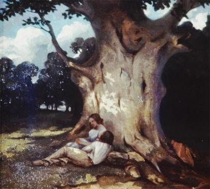Jean Gustave Courbet; Large Oak; 1843; 29 x 32 cm
