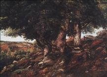 Jean Gustave Courbet; Landscape in the Forest of Fontainebleau; c.1860; 89 x 166 cm