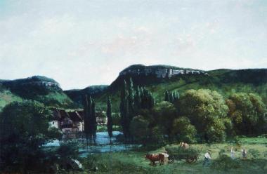 Jean Gustave Courbet; Ornans Landscape; 86.4 x 129.5 cm