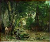 Jean Gustave Courbet; Deer Reserve at Plaisir Fontaine; 1866; Musée d'Orsay