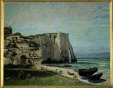 Jean Gustave Courbet; Cliff at Etretat after a Thunderstorm; 1870; oil on canvas; 133 x 162 cm; Musée d'Orsay