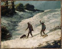 Jean Gustave Courbet; Poachers in the Snow; 1864; oil on canvas