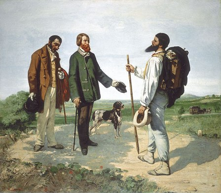 "Jean Gustave Courbet; The Meeting, or ""Good Day, Monsieur"""