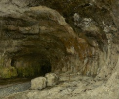 Jean Gustave Courbet; Grotto of Sarrazine Near Nans-Sous-Sainte-Anne