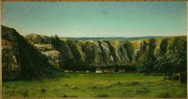 Jean Gustave Courbet; Rocky Landscape Near Ornans