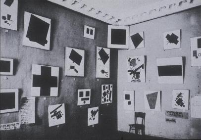 Kazimir Malevich; Installation: Last Futurist Exhibition of Paintings; 1915-16