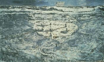 Anselm Kiefer; Midgard; 1980-5; oil and emulsion on canvas; 142 x 237.75 inches