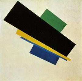 Kazimir Malevich; Suprematism, 18. Construction; 1915; oil on canvas; 53 x 53 cm; Stedelijk Museum, Amsterdam