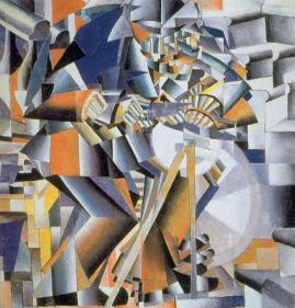 Kazimir Malevich; Knife Grinder; 1912-13; oil on canvas; 79.5 79.5 cm