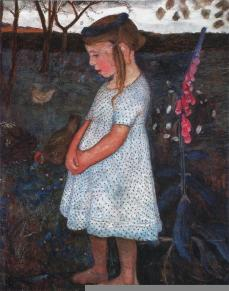 Paula Modersohn-Becker; Elsbeth; 1902; oil on wood; 89 x 71 cm