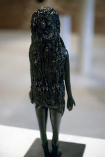 Kiki Smith; Baby Doll; 2002; bronze; 20 x 7.75 x 8 inches