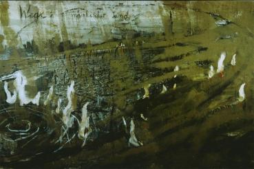 Anselm Kiefer; Wege: Märkischer Sand (Roadway: Märkischer Sand); 1981; oil and sand on canvas; 67 x 74.75 inches