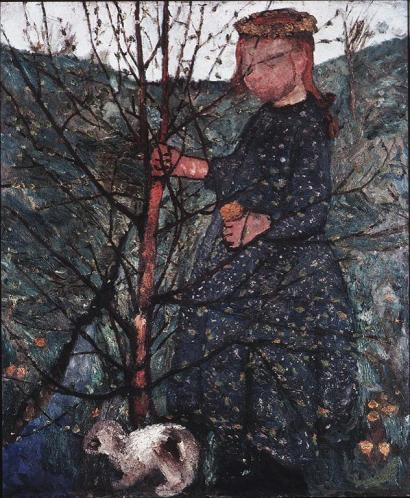 Paula Modersohn-Becker; Peasant Child with Rabbit; 1902; oil on canvas; 95 x 79 cm