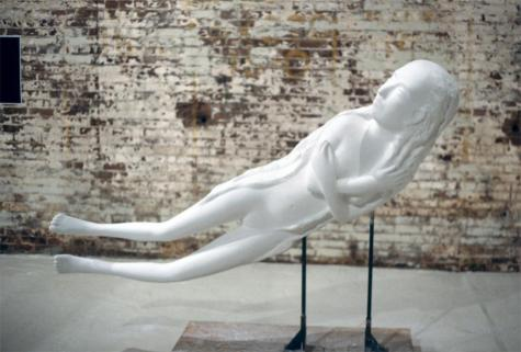Kiki Smith; Crescent Moon; 2002; plaster and foam; 44 x 79 x 17 inches