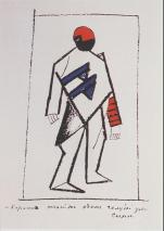 Kazimir Malevich; Victory Over the Sun; 1913; costume design; Brooklyn Academy of Music