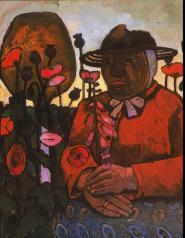 Paula Modersohn-Becker; Old Woman with Poppies; 1906