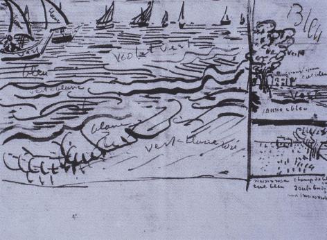 Vincent van Gogh; Letter, Fishing Boats at Sea; c. 1888