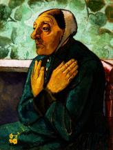Paula Modersohn-Becker; Old Peasant Woman; c. 1905; oil on canvas; 75.57 x 57.79 cm; The Detroit Institute of Arts