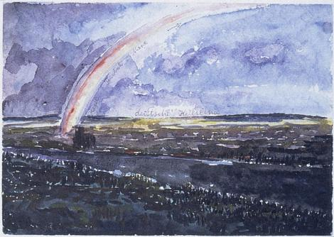 Anselm Kiefer; German Lineages of Salvation (Deutsche Heilslinie); 1975; watercolor, gouache, and ballpoint pen on paper; 24.1 x 34 cm