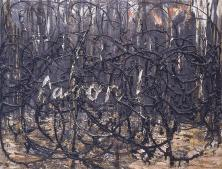 Anselm Kiefer; Aaron; c. 1979; 71 x 91 cm; in this painting, Kiefer refers to the biblical figure of Aaron, the older brother of Moses and the father of the Jewish priesthood, who helped lead the Jews out of Egypt.