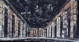 Anselm Kiefer; To the Unknown Painter; 1983; oil, emulsion, shellac, straw; 208 x 380.5 cm