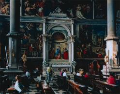 Thomas Struth; San Zaccaria, Venice; 1995; chromogenic process color print; 182 x 230.5 cm; The Cleveland Museum of Art