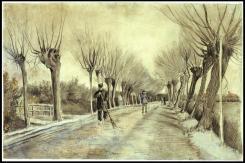 Vincent van Gogh; Road in Etten; 1881; chalk, pencil, pastel, watercolor; 39.4 x 57.8 cm; The Metropolitan Museum of Art