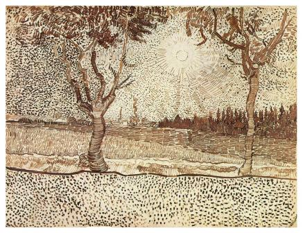 Vincent van Gogh; The Road to Tarascon; 1888; pencil, reed pen and brown ink on wove paper; 23.2 x 31.9 cm