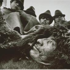 Sebastiao Salgado; Ecuador: People Wearing Sheepskins to Protect from the Cold and Humidity; 1982