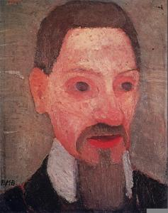 Paula Modersohn-Becker; Rainer Maria Rilke; 1906; oil on wood; 32.3 x 25.4 cm