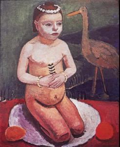 Paula Modersohn-Becker; Girl with a Stock; 1906; oil on canvas; 73 x 59 cm