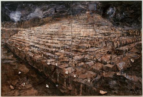Anselm Kiefer; Osiris Und Isis (Osiris and Isis); 1985-7; oil and acrylic emulsion with additional three-dimensional media; 381 x 560.07 x 16.51 cm); San Francisco Museum of Modern Art