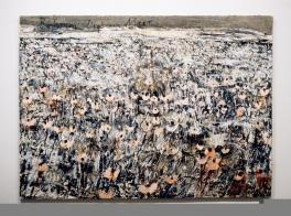Anselm Kiefer; Bäumen liegt am Meer; 1996; acrylic on canvas; 74.75 x 102 inches