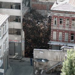 Doris Salcedo; 1550 chairs
