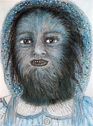 Kiki Smith; Wolf Girl; 1999; etching on paper; 20 x 16 inches, edition of 20