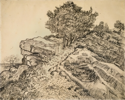 The Rock of Montmajour with Pine Trees Vincent van Gogh, 1888
