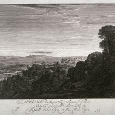 Hendrik Goudt; Landscape at Dawn, Aurora; 1613; etching; 15.8 x 18.6 cm