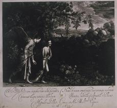 Hendrik Goudt; Tobias and the Angel; 1613; engraving and etching; 22.8 x 26.3 cm