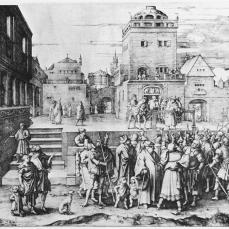 Lucas van Leyden; Ecce-Homo; 1510; engraving; 286 x 452 mm