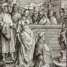 "Lucas van Leyden; Power of Women Series, ""Solomon's Idolatry""; 1513-14; woodcut"